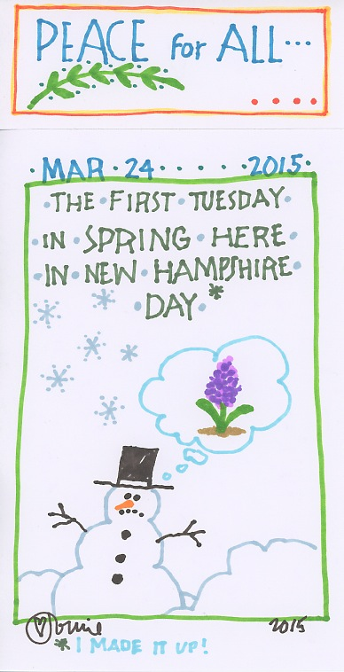 First Tuesday in Spring Here 2015