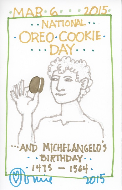 Michaelangelo Oreo Cookie 2015