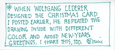 New Year Wolfgang Message 2015