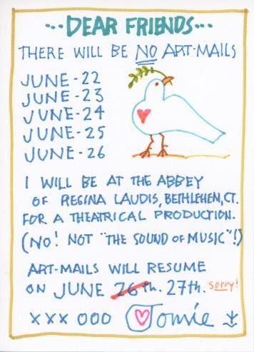 No Art Mails June 2017