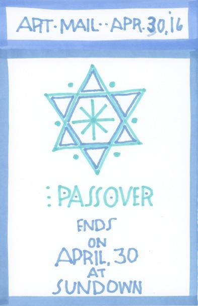 Passover Ends 2016