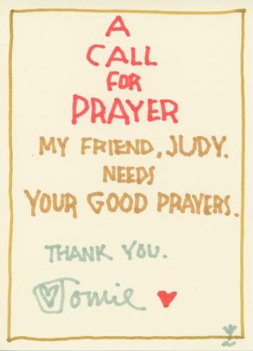 Prayer for Judy 2017