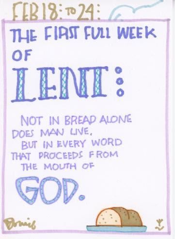 Lent First Full Week 2018