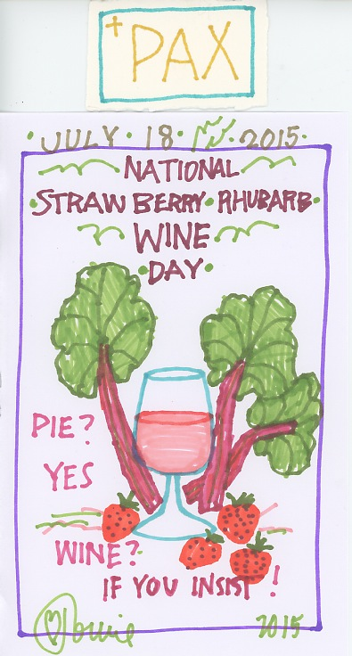Strawberry Rhubarb Wine 2015