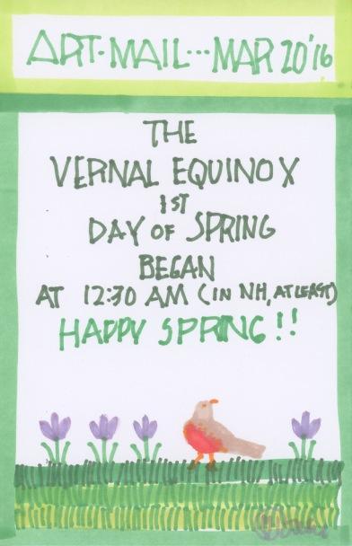 Vernal Equinox 2016