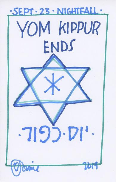 Yom Kippur Ends 2015