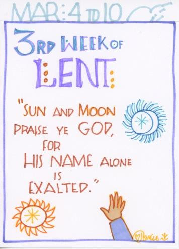 Lent Third Full Week 2018