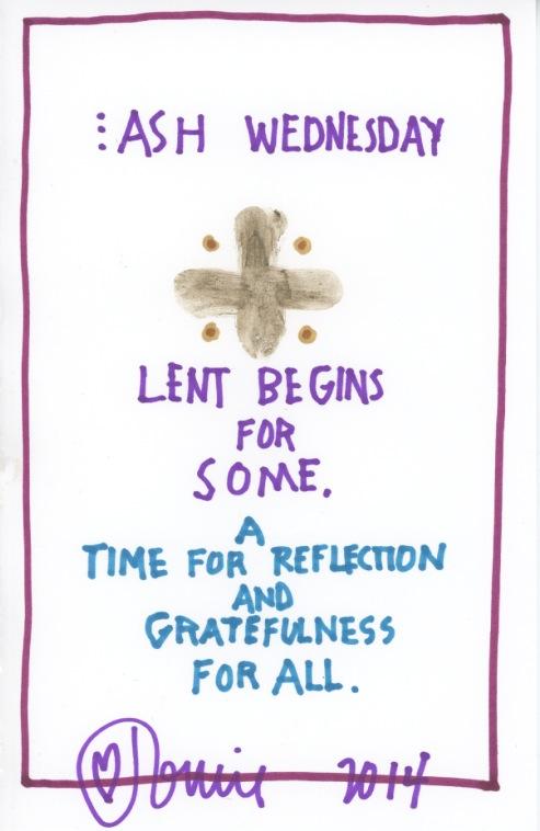 Ash Wednesday 2014