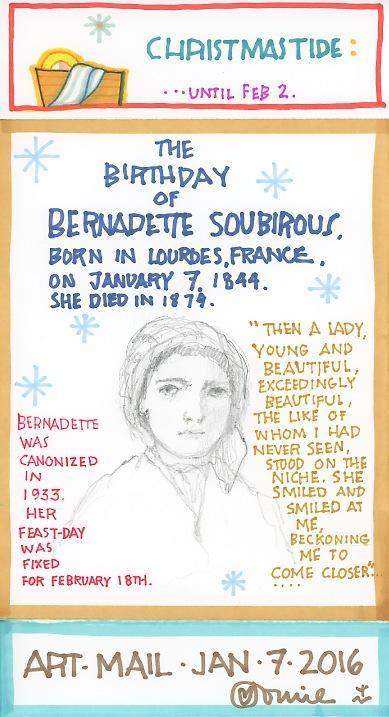 Bernadette Soubirous 2016