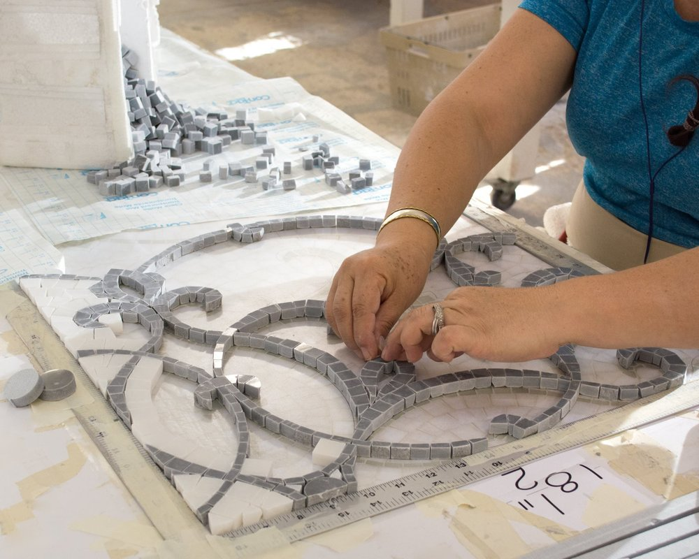 Mosaics on the fast track - Custom mosaics making positive advances.