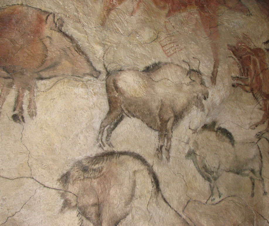 Cave painting from the cave of Altamira in the Anthropos Pavilion of The Moravian Museum in the Czech Republic. (Wikimedia Commons)