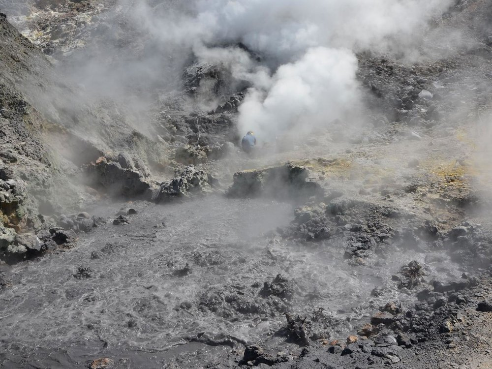 Pisciarelli fumaroles and mud pools from the Campi Flegrei caldera, near Naples/GETTY IMAGES
