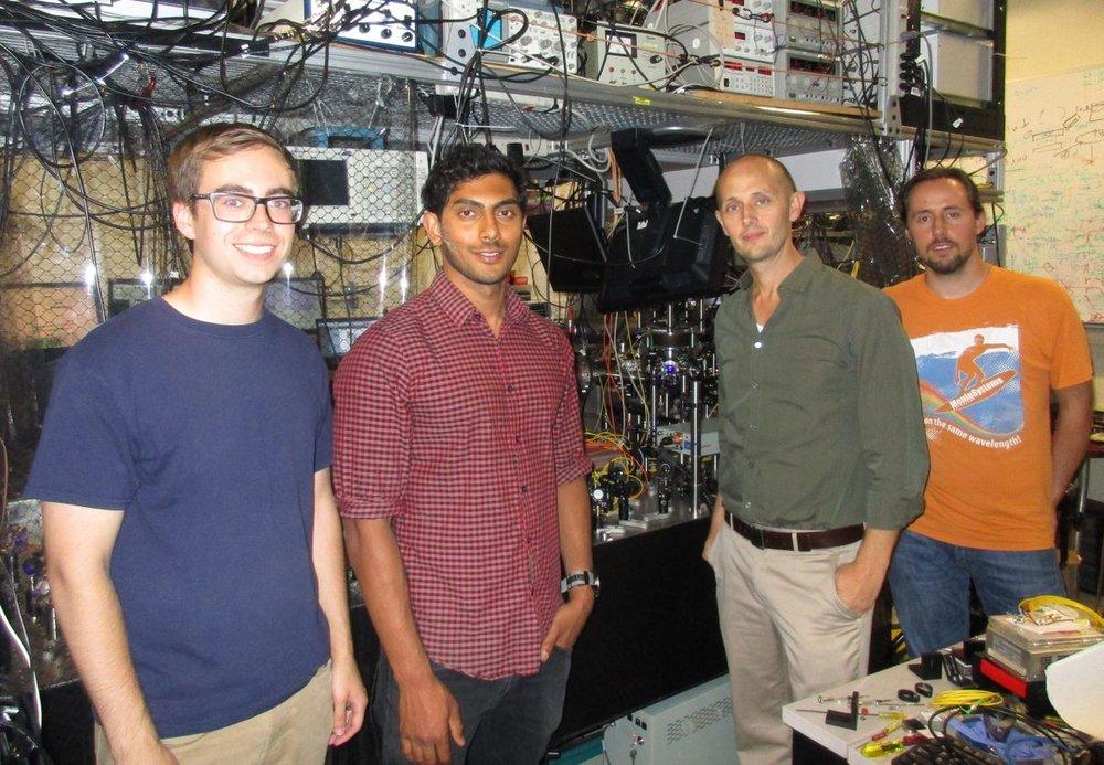 Michael Mills, Prateek Puri, Eric Hudson and Christian Schneider ((Stuart Wolpert/UCLA)
