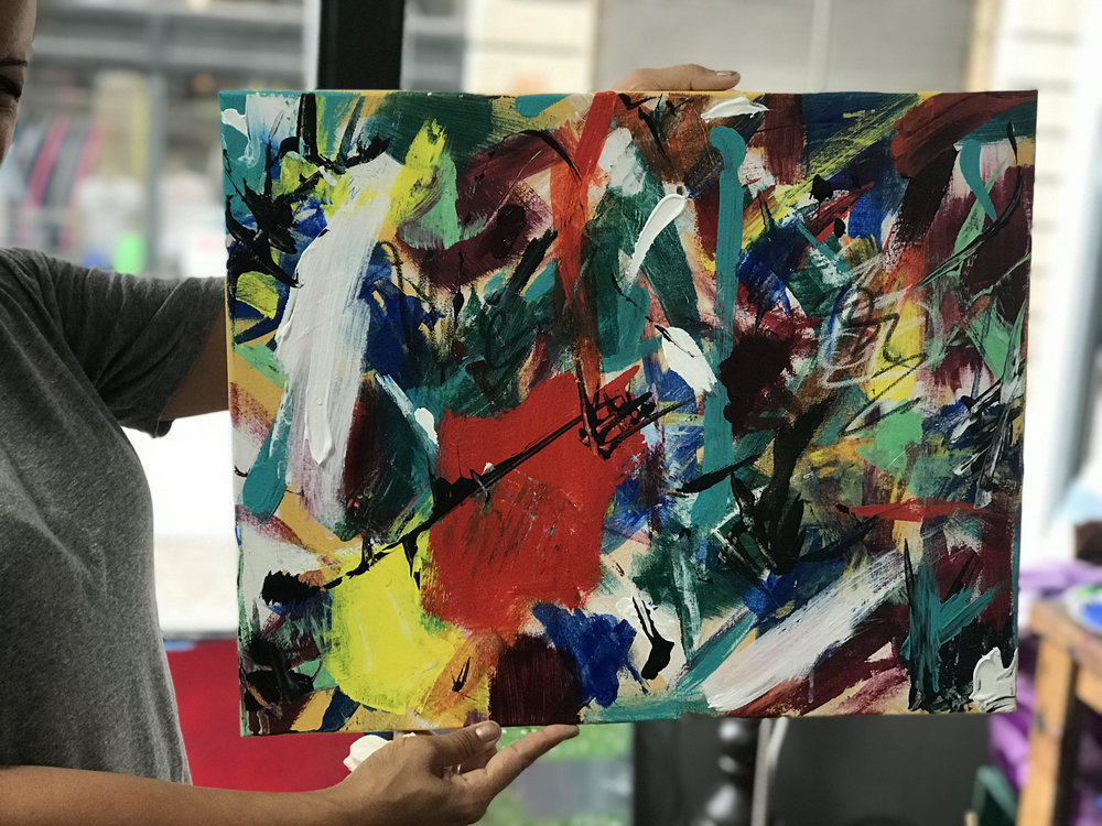 One of our student's amazing Abstract Paintings!
