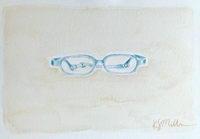 I love painting objects that become such a huge part of a persons life! It never ceases to warm my heart- depicting these objects that possess such sweet purpose; and even at a quick glance, can evoke so many memories...like this first pair of glasses for a little boy who is filled with wonderment and joy! 💙👓💙👓💙 #nashvilleart #watercolorpainting #boysglasses #nashvilleartistcollective