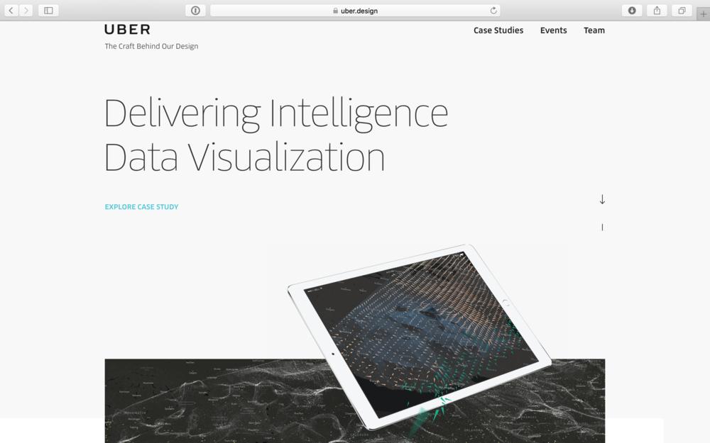 uber design site personalizing their design department top level