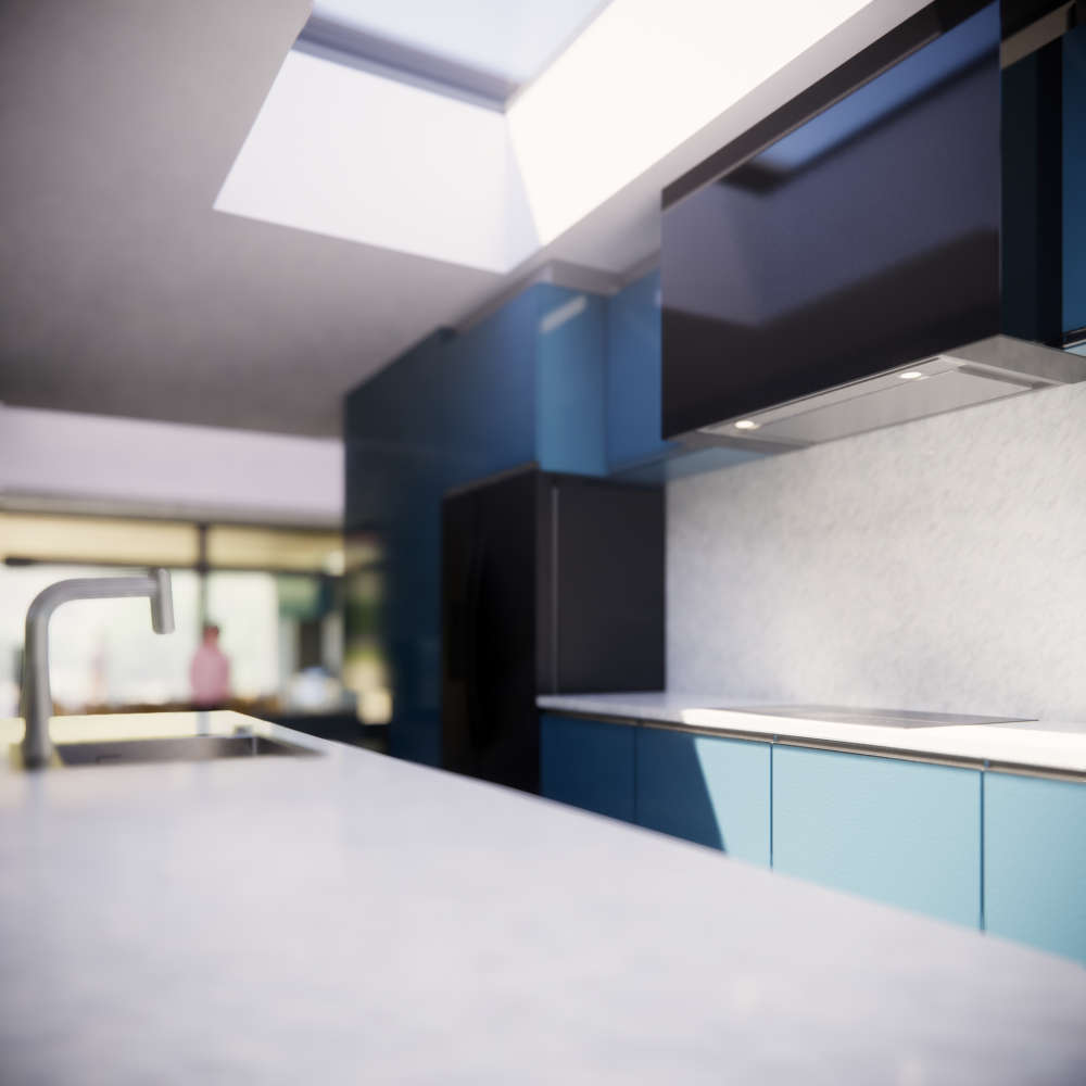 First draft of the kitchen design for place.HOUSE 1, still more development to come!
