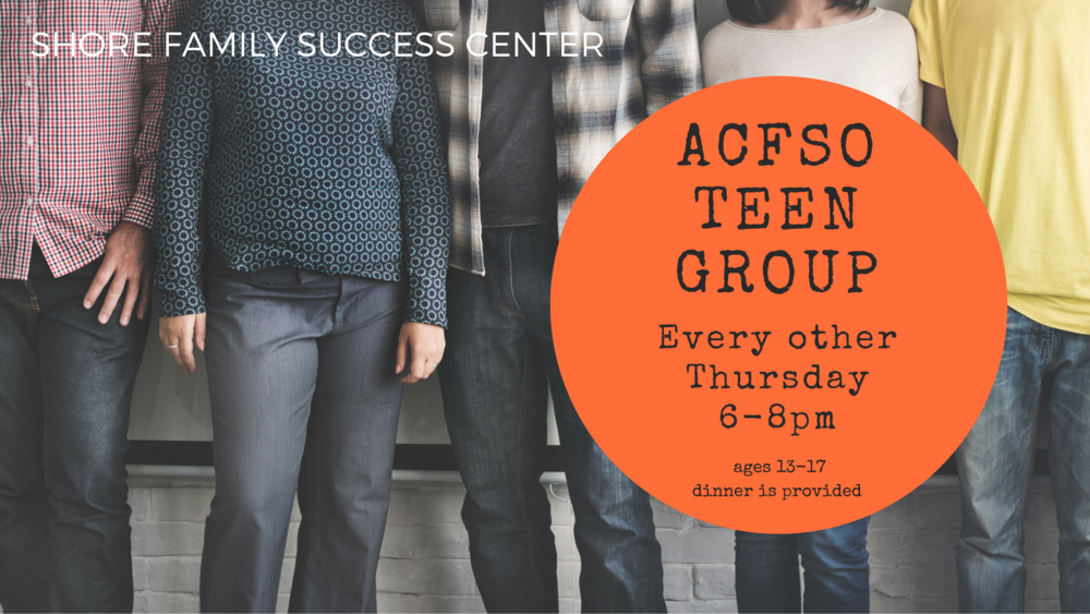 Teen Group  - Atlantic Cape Family Support Organization hosts this teen group ages 13-17. The group focuses on life skills and leadership abilities. Dinner is provided.
