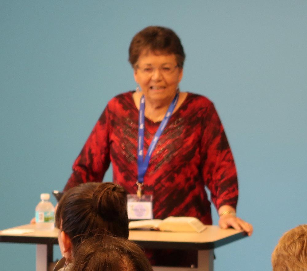 Rev. Dawn Lundgren leading a breakout session.