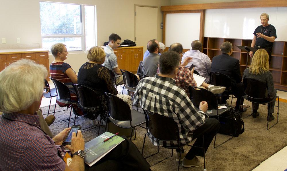 Rev. Michael Pilla leading a breakout session.