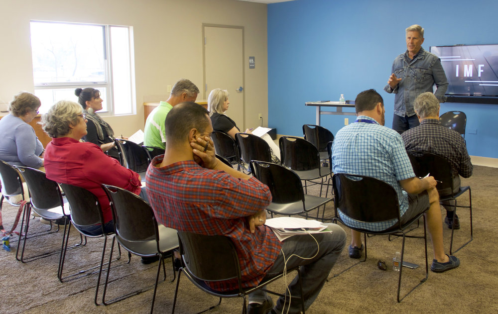 Pastor Randy Alonso leading a breakout session.