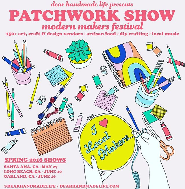 So honored to invite you all to the #patchworkshow, where I will be promoting soaps and other products by #3birdsnaturals!!! This event is organized by @dearhandmadelife. Come and see me at the Long Beach Marine Stadium on June 10th!!! #gohandmade #naturalmade #artisansoap #shopsmall #supportsmallbusiness #smallbusiness #handmade