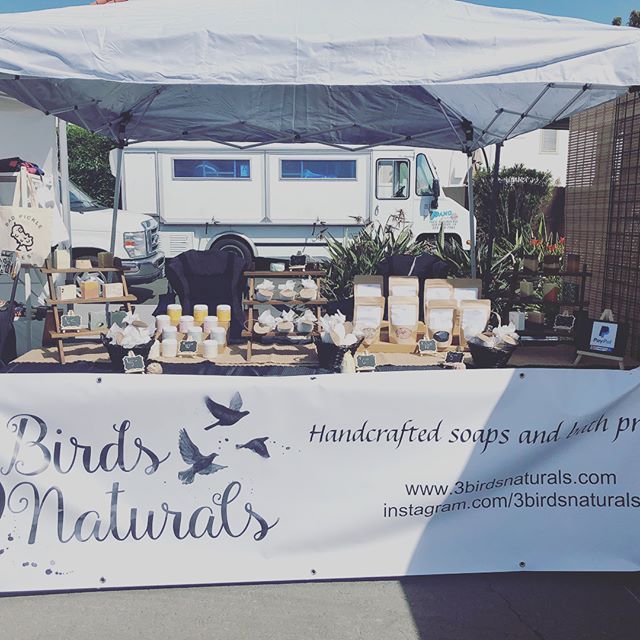 All set and ready to go!!!! Come see us, we are at the Marine Stadium in Long Beach – Appian Way @ Bayshore Ave. From 11 to 5pm. Shop local, eat local, jam local with live music all day long. See you there! . . . #smallbusiness #supportsmallbusiness #supportlocal #3birdsnaturals #longbeachlife #soapersofinstagram #southbaysoaper #bathsoaksalts #foamingbodybutter #bathcakes #bathscoops