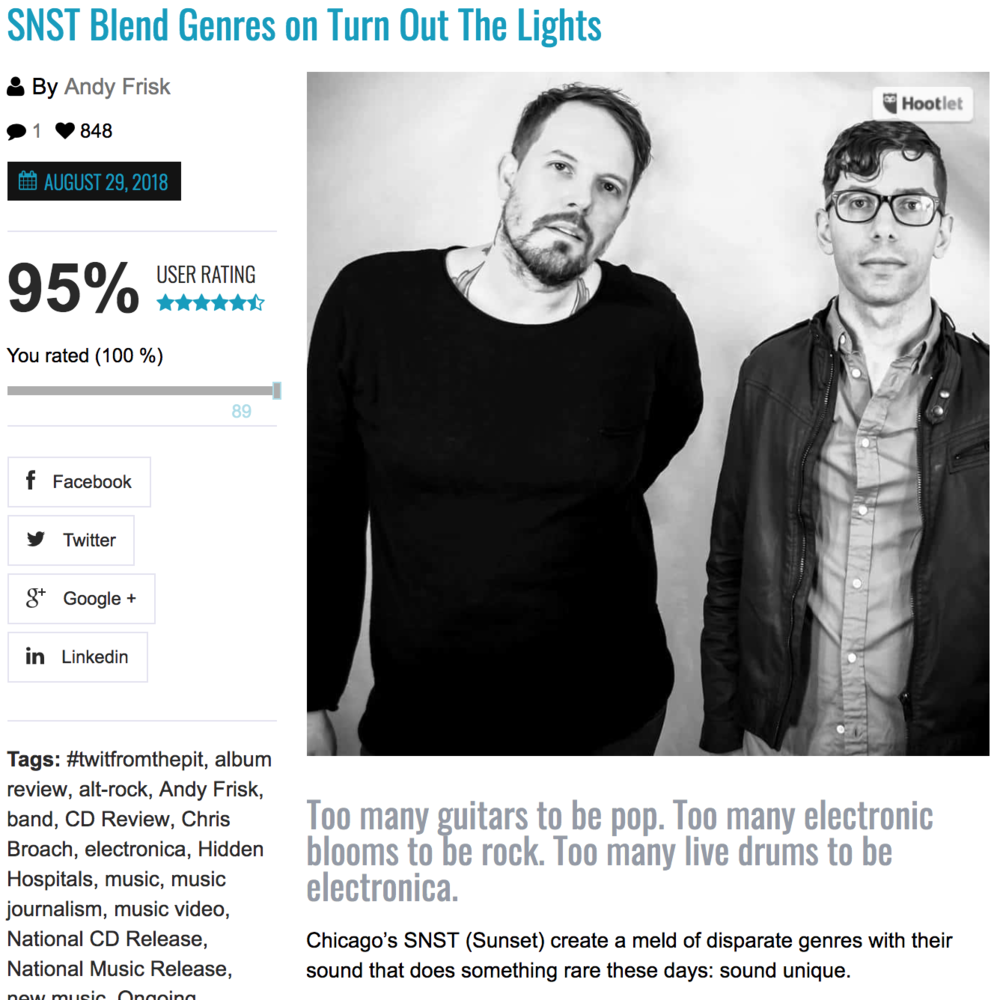 SNST Blend Genres on Turn Out the Lights