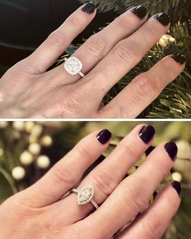 we were both gifted rings for christmas 💍 nothing better than shopping local... these stunning rings were purchased from @scontsas, our neighbors! ✨