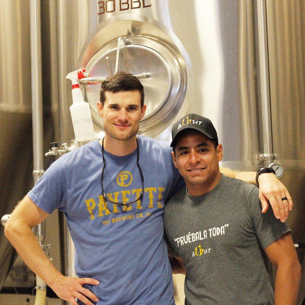 Payette brewer, Matt Watterson and Victor Soto from Cervecería Albur