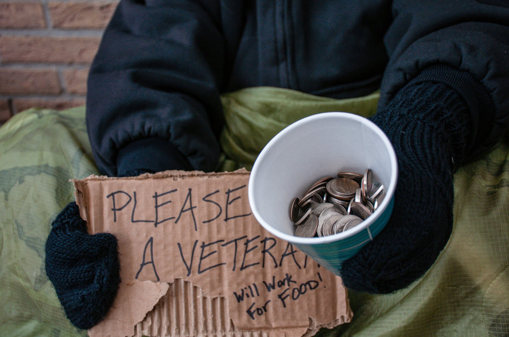 Homeless Veterans - Over 47,000 American Veterans sleep on the streets every night.  The Elks Welcome Home Kit programs is helping eliminate homeless vets.