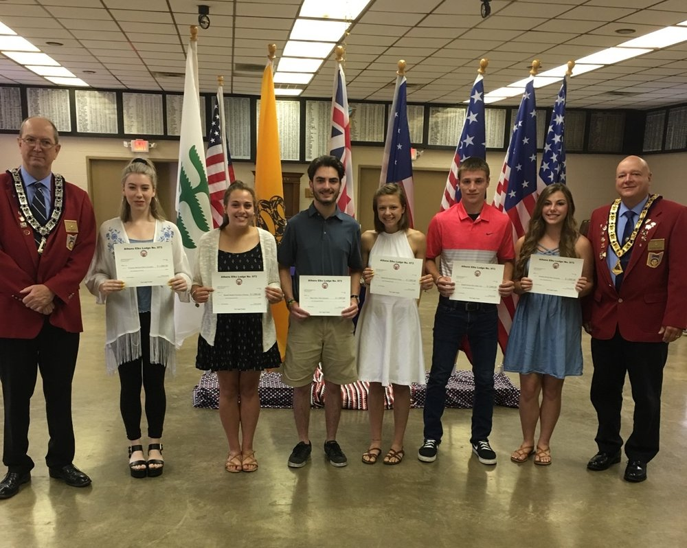 Pictured, from left:Tom Donley, Dlaynne McGuire, Hannah Murphy, Ethan Gates, Addison Bowers, Randall Hixon, Montan Moody and Rich Russell.