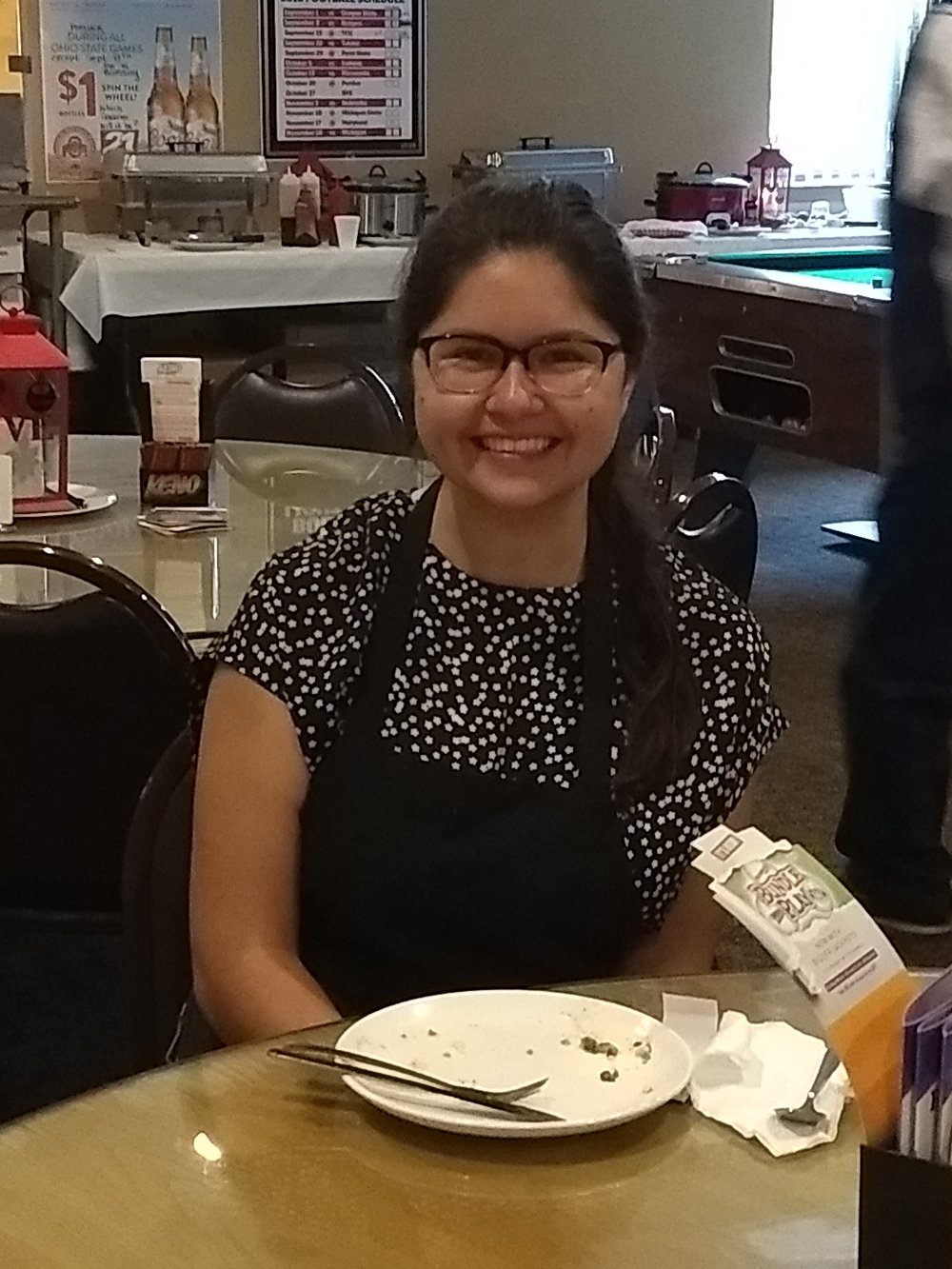 Scholarship recipient, Luisa Parrish enjoyed the brunch!