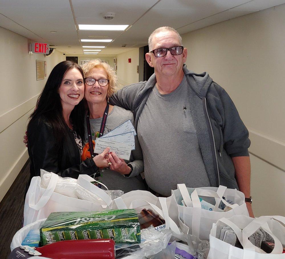 Pictured: Kimberly Lewallen, Volunteer Coordinator, Ohio/ NW District Rep Mary Beaston, and Veteran Kenny.