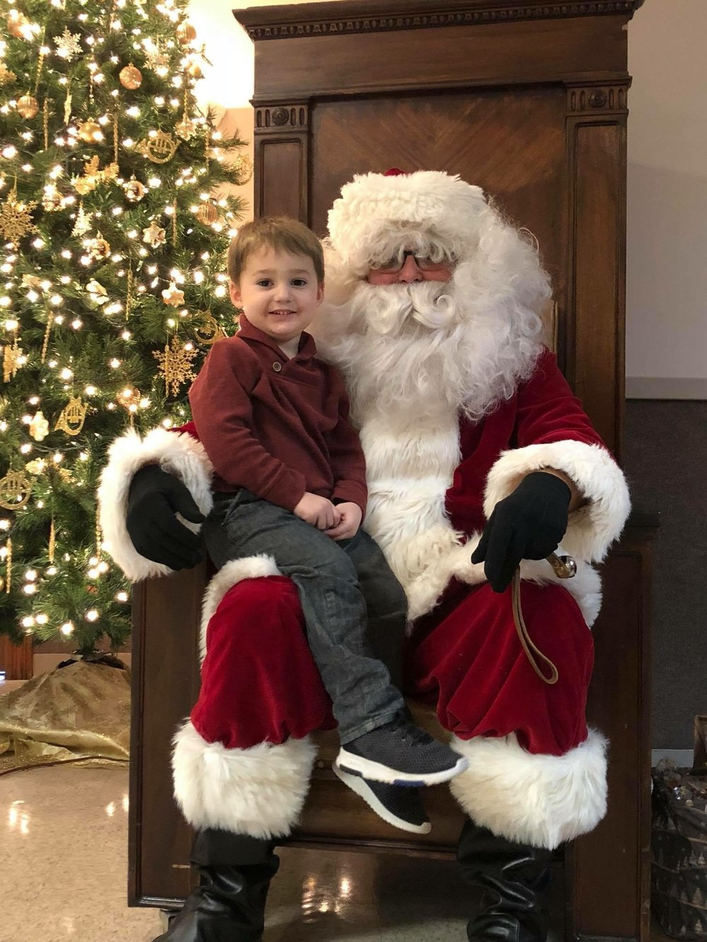 Pictured visiting with Santa is Jack, the grandson of Dave and Patti Keipper