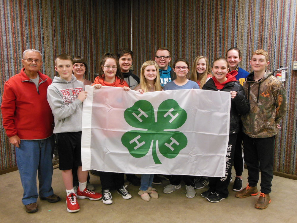 Pictured are some of the local 4-H Camp Counselors and 4-H members with Mike Stanley, Lodge Elks National Foundation Chair.