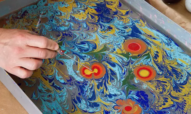 Paper Marbling Workshop With Adrienne Day Artspace At