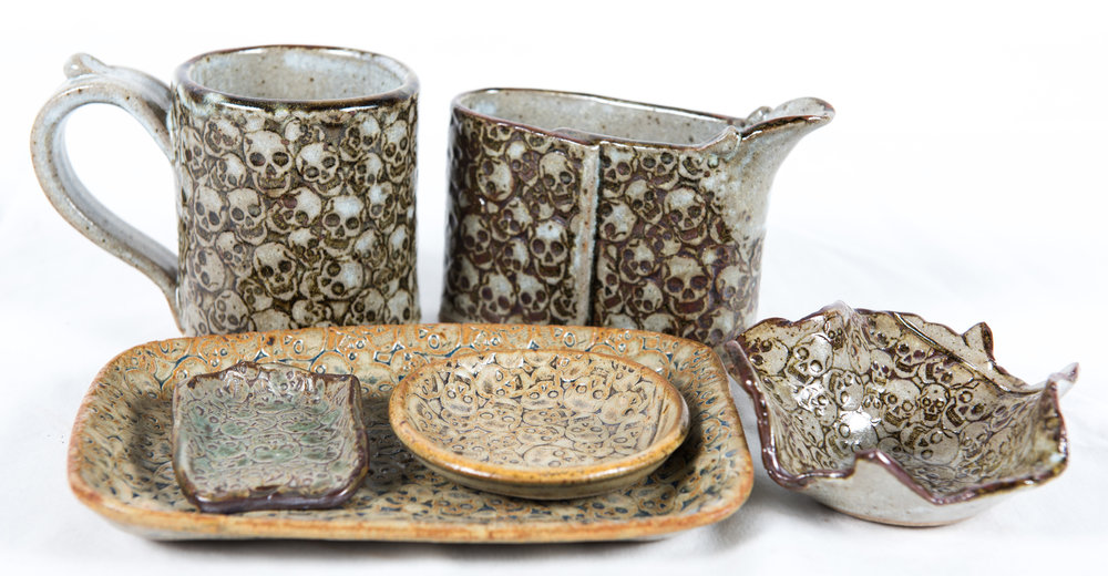 7. Donna Prigmore Skull Motif Ceramics, from $5.00