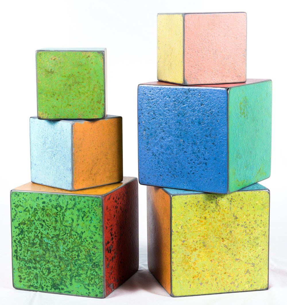 8. Dan Garrett Steel Cubes, from $90.00
