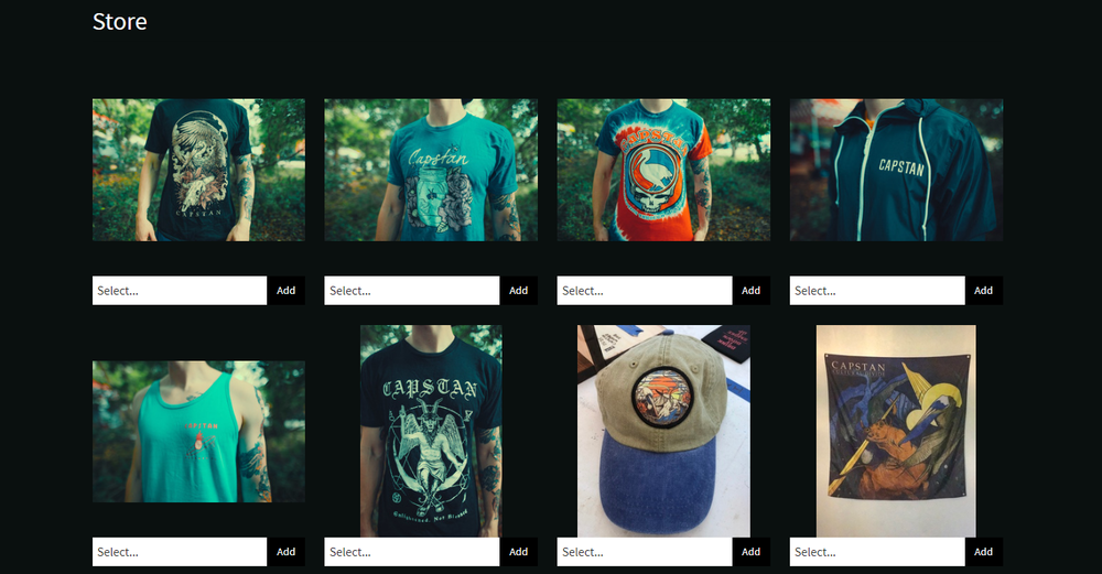 CAPSTAN OFFICIAL MERCH STORE - 100% managed by us, for you.