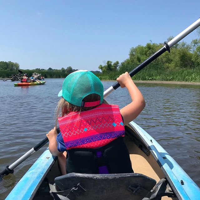 Paddling out on the Kalamazoo river 🛶☀️ #puremichigan #kayakmichigan