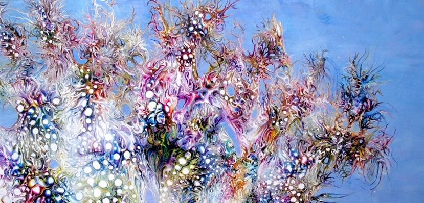 "12.) Kristen Carleton, ""Wisdom Bush"", 2012, 60.96cm x 121.92cm, Acrylic on Primed Masonite.JPG"