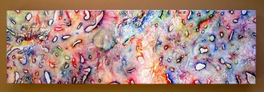 "14.) Kristen Carleton, ""Re-member"", 2012, 15.24cm x 50.80cm, Acrylic on Stretched Canvas.JPG"