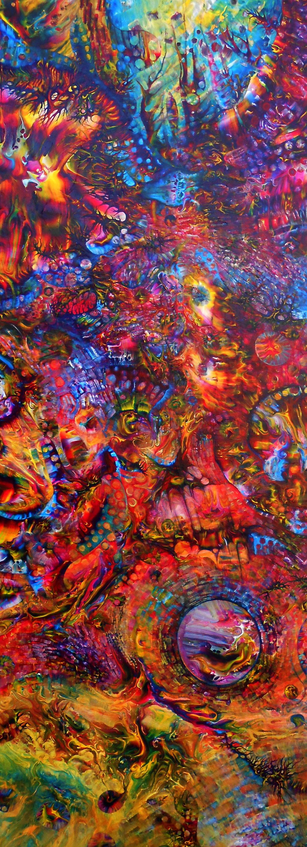 "13.) Kristen Carleton, ""Inside"", 2012, 40cm x 86cm, Acrylic on Polymer.JPG"