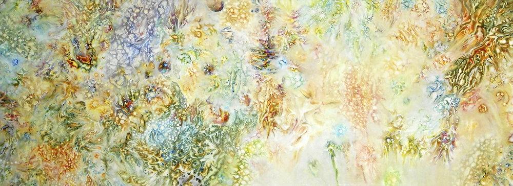 "7.) Kristen Carleton, ""Sapere Aude"", 2013, 46cm x 122cm, Acrylic on Stretched Canvas.JPG"