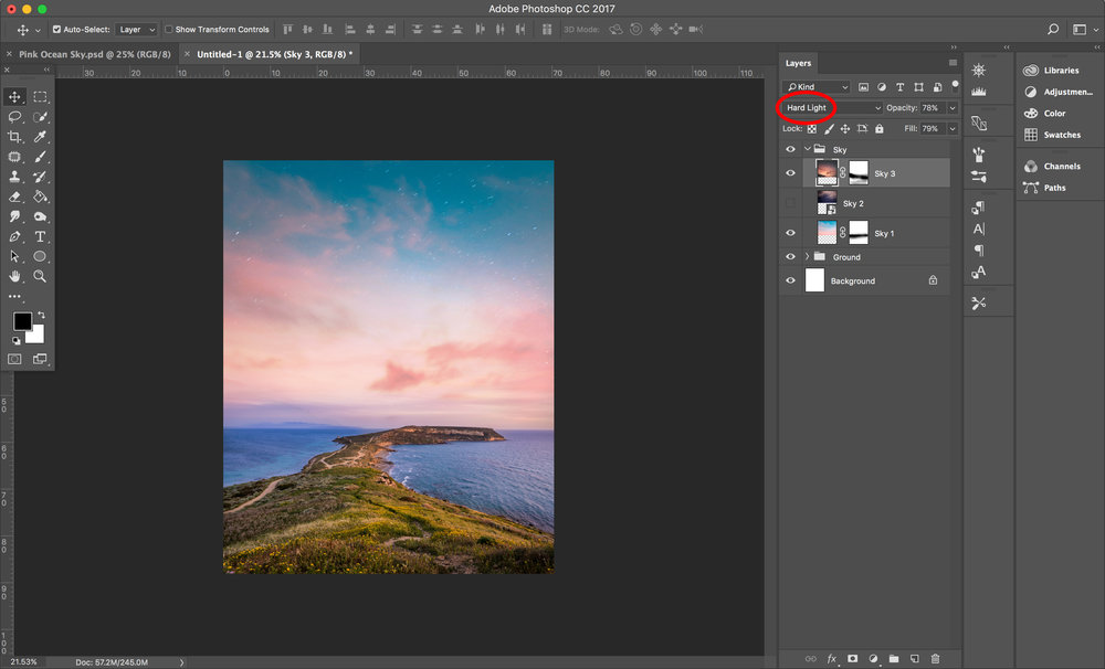 3. Add more depth by including another image and blending it in!