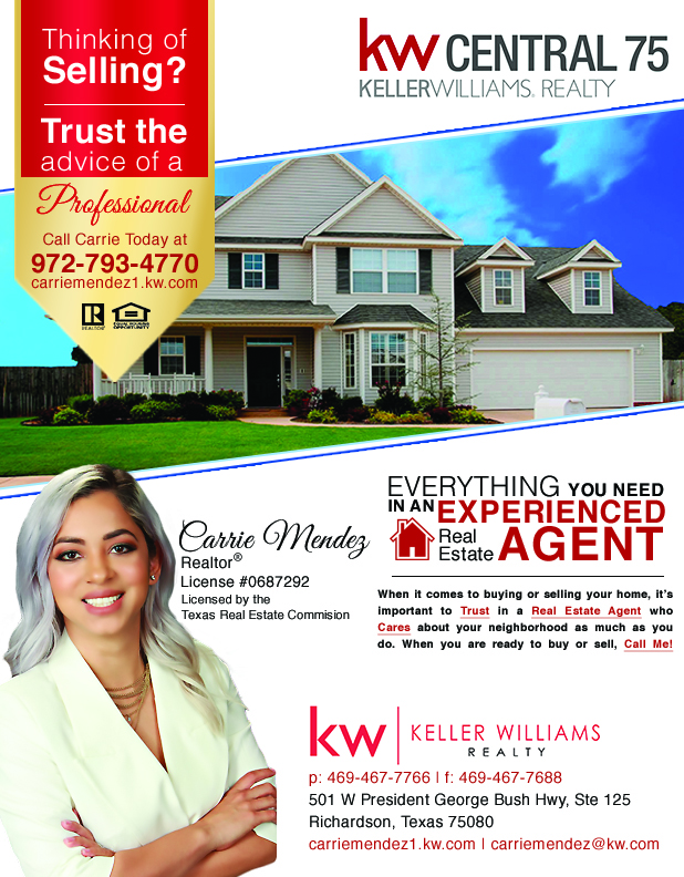Carrie Mendez KW Realty Agent - When it comes to buying or selling your home, it's important to Trust in a Real Estate Agent who Cares about your neighborhood as much as you do. When you are ready to buy or sell, Call Me!