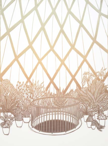 InsideThePavillion-after-Bruno-Taut_lithohand-cutpaper_13.8x14.7_2016.jpg
