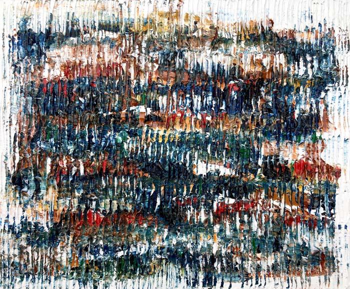 Untitled (L'automne) - Sculptural Oil Painting by Louis-Bernard