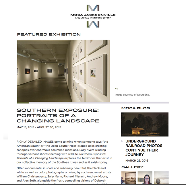 MOCA JACKSONVILLE Featured Exhibition May 16, 2015